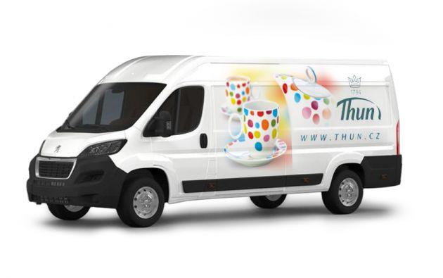 Návrh a realizace potisku firemního vozu -Thun